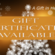 Holiday Gift Certificates Available 2016!