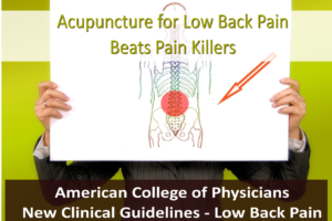 Acupuncture for Low Back Pain Beats Pain Killers – New Guidelines
