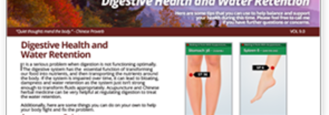 Digestive Health and Water Retention – Patient Help Sheet