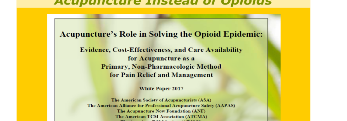 Why Acupuncture instead of Opioids?