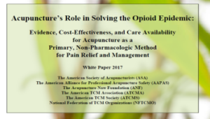 acupuncture instead of opioids white paper