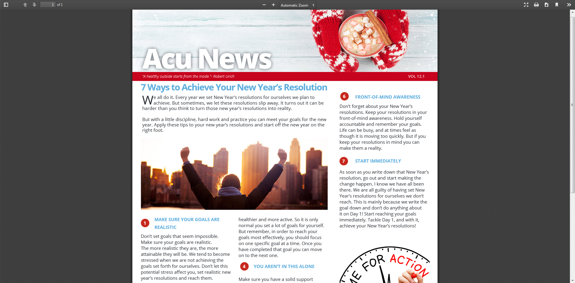 7 Ways to Achieve Your New Year's Resolution for 2018 – AcuNews 12.1