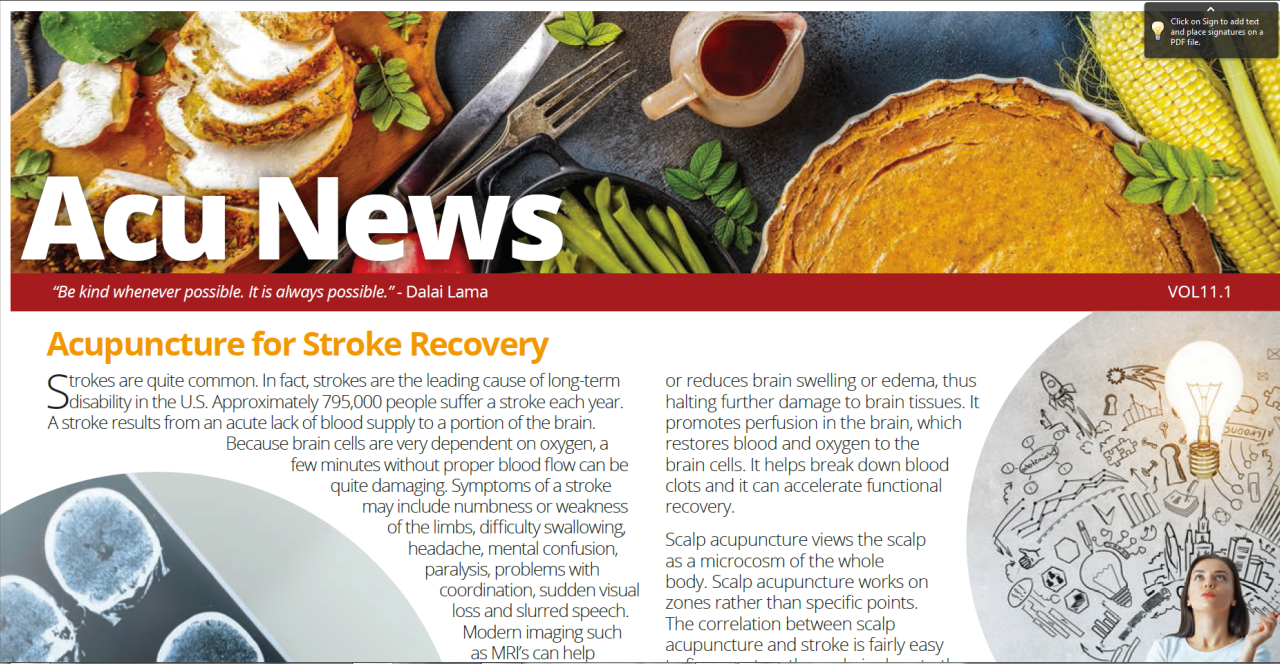 Stroke Recovery and Acupuncture | Natures Healing